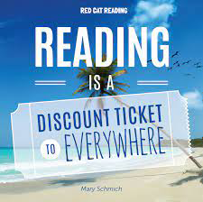 Tropic Beach with the saying Reading is a Discount Ticket to Everywhere